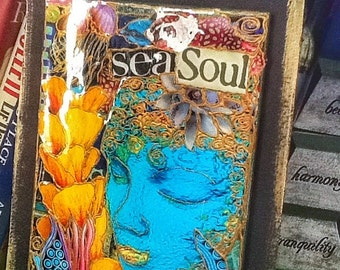 Sealife Collage on Hardboard  The SEA SOUL by bluemoose