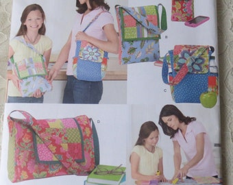 Simplicity Sewing Pattern 1935 Learn To Sew Patchwork Quilted Purses Bags