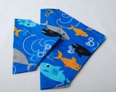 Shark Week or Beach Time Kerchief Style Dog or Cat Collar Scarf For the Pet Thats All About Fashion