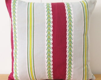 vintage fabric throw pillow