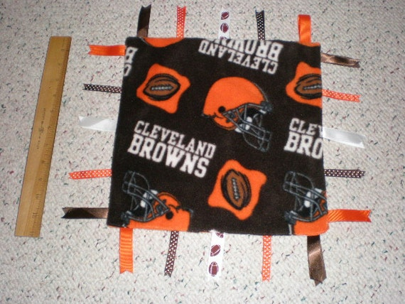 Cleveland Browns Fleece Baby Sensory Blanket By