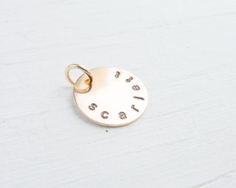 Add or Replace a Rose Gold Pendant Name Charm or Initial Charms Replacement or Addition for Rosegold Personalized Jewelry Pendants only