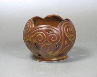 Rustic Celtic Spirals Candle Globe