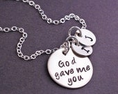 God Gave Me You Necklace, Mother's Day Jewelry for Mother, Jewelry Christmas Gift, Religious Jewelry
