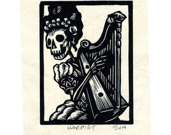 Calavera Harpist