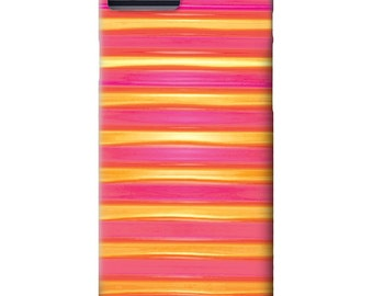 iPhone 6 Case, iPhone 5 case, Red, pink, yellow, Stripes, iPhone cover, hard plastic, iPhone 5S case, iPhone 6 plus case, Galaxy S6 Case