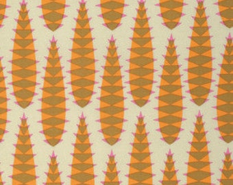 Anna Maria Horner Pretty Potent Aloe Vera Print cotton fabric Butter Yellow by the yard