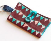 Business Card Holder, Wallet, Bill Fold, banner, turquoise, #124