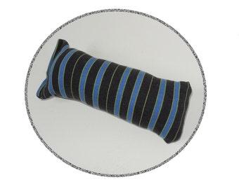 Blue Black Striped Catnip Cat Toy - Kick Stick - Upcycled Recycled