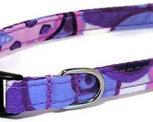 XS Dog Collar - Playful Purple Paisley - Extra Small Miniature Teacup - Cute, Pretty and Fancy