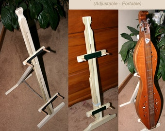Hand-Made Mountain Dulcimer Folding Stand With Optional Clipboard