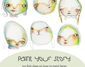 Paint Your Story online class - by Mindy Lacefield