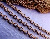 20 Feet Antique Copper Cross Chains CHT002Y-R