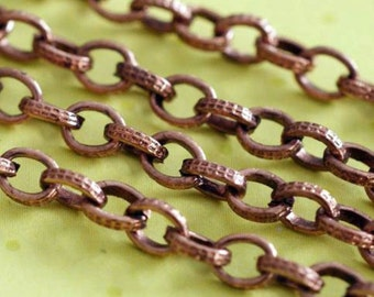 10 Feet Antique Copper Chains CHT005Y-R