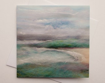 Morning Mist Printed Greetings Card