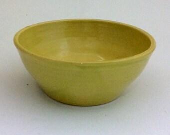 Yellow Serving, Mixing  Bowl Wheel Thrown Stoneware Pottery Ready to Ship