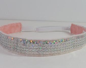 Sparkled Silver Sequence Headband - Adjustable Headband - Non Slip Headband - One Size Fits All