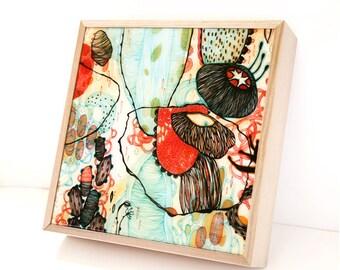 Vessel - Resin-Coated Print on Wood Panel