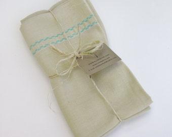 Vintage Pillowcase, Lemon Yellow Fabric, Linen Fabric, Upcycled Fabric, Recycled Decor, Pillowcase Bag, Vintage Linen Fabric