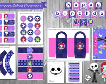 Nightmare Before Christmas Party Kit