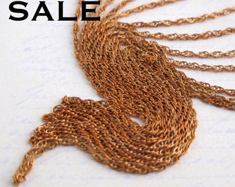 Vintage Red Brass Rope Chain -soldered (10 Feet) (CP213-B) SALE - 25% off