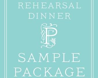 Rehearsal Dinner Invitation SAMPLE PACKAGE