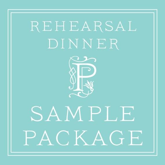 Rehearsal Dinner Invitation Wording Examples Ideas: Rehearsal Dinner Invitation SAMPLE PACKAGE By Paperwhitespress