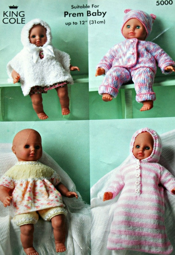 Knitting Clothes For Premature Babies : Premature baby knitting patterns dolls clothes king cole