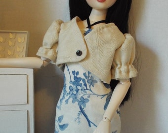 "Blue Floral Minidress--16"" Fashion Dolls"