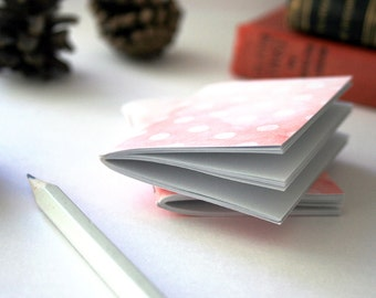 Tiny illustrated notebook - blue or pink - fits in your hand