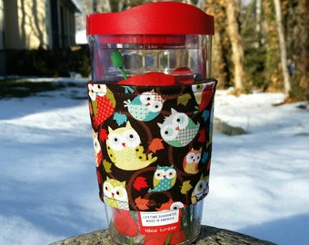 Tervis cozy / Tervis tumbler sleeve / Tervis cup wrap / Owls