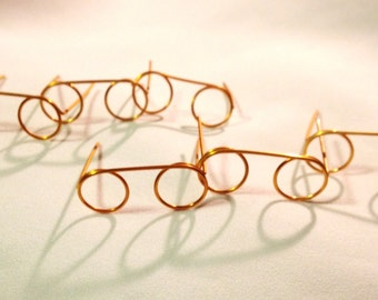 DIY Doll Making Supplies  Round Wire Glasses For Santa or Dolls  You make It