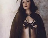 Starry Night  burlesque/lingerie/bridal boudoir cape