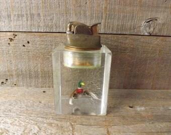 Vintage Evans Table Lighter, Duck Table Lighter, Coffee Table Lighter, Cigarette Lighter, Tobacciana Collector