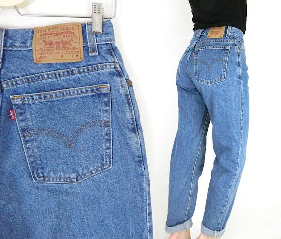 vintage levi 39 s 550 size 10 high waist tapered leg jeans. Black Bedroom Furniture Sets. Home Design Ideas
