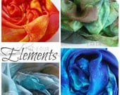 The Four Elements Playsilk Set of Four : 35 x 35 Inch Play Silks