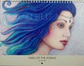 Sale! Astrology 2015 Calendar Girls of the Zodiac by Suzi Blu