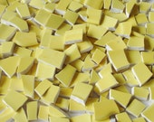 Supplies - Vintage - Mosaic Tiles - 150 - Sunny Side up - Yellow - Vintage Broken Plate Tessera