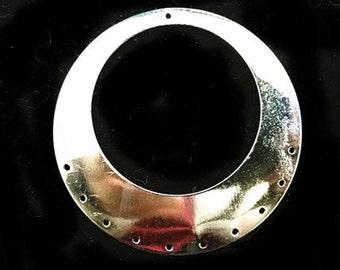 8pc 50mm nickel look metal filigree large pendants-9701