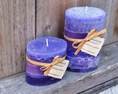Pair of Fruitified Estate Scented Oval Pillar Candles