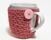 Novelty Stocking Stuffer Teacher Gift Crochet Coffee Cup Cozy Teacher Gift Crochet Cup Cozy