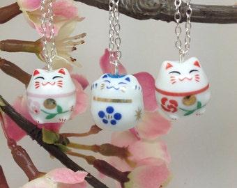 Cute Ceramic Cat Pendant