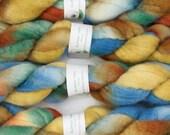 Handpainted Bluefaced Leicester Wool Roving in Desert Island by Blarney Yarn