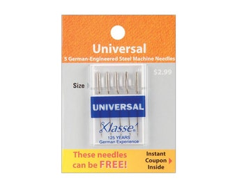 Klasse Machine NEEDLES - Universal 75/11 - 5 Count