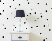 Star Wall Decals - 5 point Star Confetti Decals - Star Wall Stickers - Star Wall Mural Decal - Kid Decal - Statement Decal - WD1078