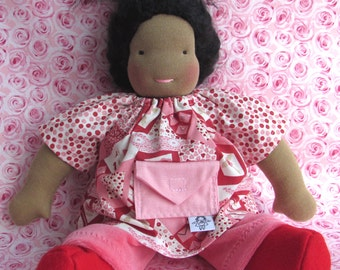Waldorf doll, germandolls Loveletters set, handmade doll, soft toy, natural doll, German doll