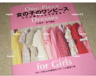 Japanese Craft Pattern Book Sewing Dresses for Girls out of print