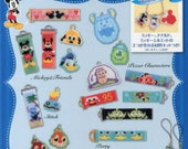 Shaped Peyote Stitch Disney Characters Beaded Motifs Blue - Japanese Craft Book