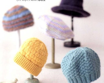 Knit and Crochet Caps and Hats - Japanese Craft Book