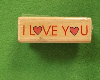 I Love You Rubber Stamp Stamp Affair